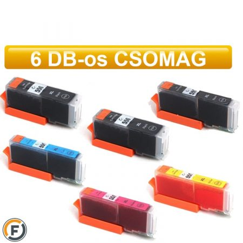 Canon PGI550xl - CLI551xl chipes utángyártott tintapatron csomag, 6 darabos (pgi-550 cli-551)