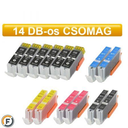 Canon  PGI570xl / CLI571xl  utángyártott tintapatron csomag, 14 darabos (pgi-570 cli-571)