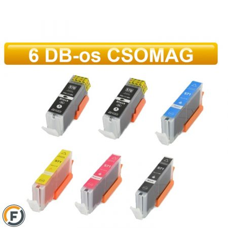 Canon PGI570xl / CLI571xl utángyártott tintapatron csomag, 6 darabos (pgi-570 cli-571)