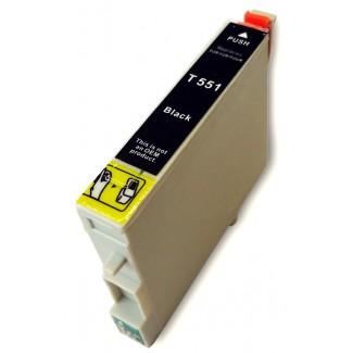 Epson nyomtatóhoz t0551 FEKETE utángyártott tintapatron kb.≈: 480 oldalas TO551