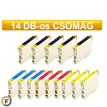 Epson T0615 utángyártott tintapatron csomag, 14 darabos (T0611)