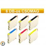 Epson T0615 utángyártott tintapatron csomag, 6 darabos (T0611)