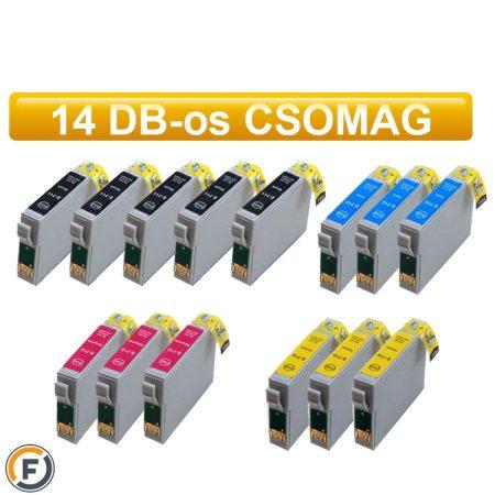 Epson T0715 (t0895) utángyártott tintapatron csomag, 14 darabos