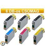 Epson T0715 (t0895) utángyártott tintapatron csomag, 6 darabos