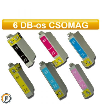 Epson nyomtatóhoz T0807 utángyártott tintapatron csomag, 6 darabos