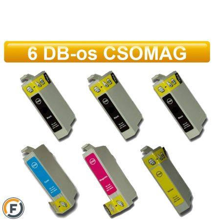 Epson T1285 utángyártott tintapatron csomag, 6 darabos