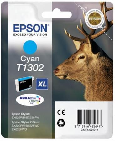 Epson T1302 (C) cián eredeti tintapatron (≈330oldal)