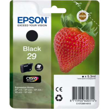 Epson T2981 (Nr. 29) fekete eredeti tintapatron (~175 oldal)