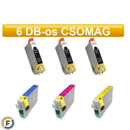 Epson nyomtatóhoz T2995 (Epson Nr.29XL) utángyártott tintapatron csomag, 6 darabos