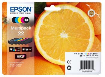 Epson Nr.33 (T3337) eredeti tintapatron multipakk (5db-os), ~1350 oldal