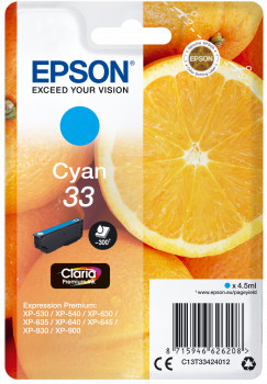 Epson Nr.33 (T3342) eredeti cián tintapatron, ~300 oldal