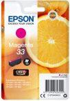 Epson Nr.33 (T3343) eredeti magenta tintapatron, ~300 oldal