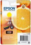 Epson Nr.33 (T3344) eredeti sárga tintapatron, ~300 oldal