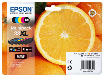 Epson Nr.33XL (T3357) eredeti tintapatron multipakk (5db-os), ~2880 oldal