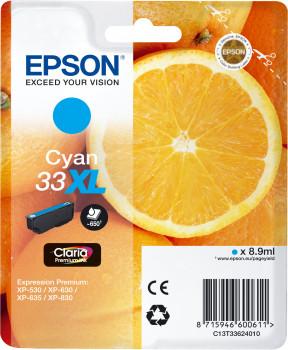 Epson Nr.33XL (T3362) eredeti cián tintapatron, ~650 oldal