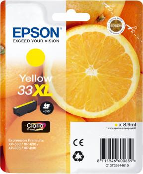 Epson Nr.33XL (T3364) eredeti sárga tintapatron, ~650 oldal
