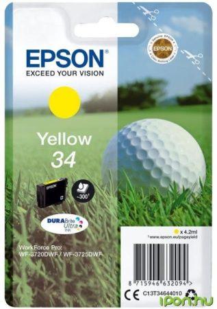 Epson T3464 (Nr. 34) eredeti sárga tintapatron  (≈300 oldal)