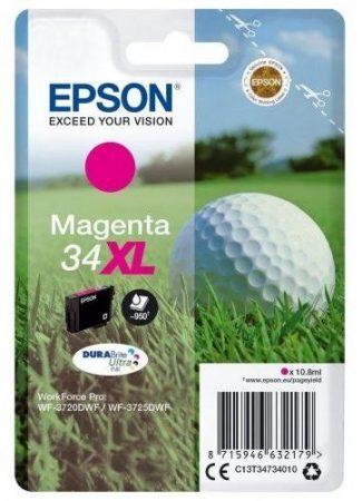 Epson T3473 (Nr. 34XL) eredeti magenta tintapatron  (≈950 oldal)