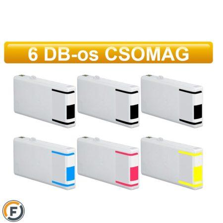 Epson nyomtatóhoz T7015 utángyártott tintapatron csomag, 6 db (T0711)