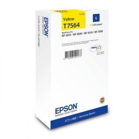 Epson T7564 eredeti sárga tintapatron, ~1500 oldal