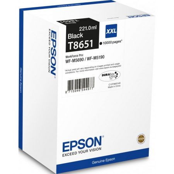 Epson T8651 eredeti fekete tintapatron, 10000 oldal (C13T865140)