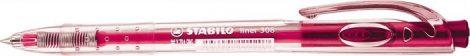 STABILO Liner 308 rózsaszín golyóstoll, rózsaszín tolltest