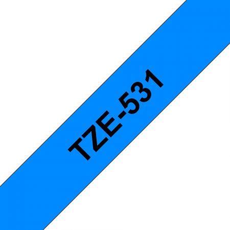 Feliratozógép szalag, 12 mm x 8 m, BROTHER, kék-fekete (TZE-531)