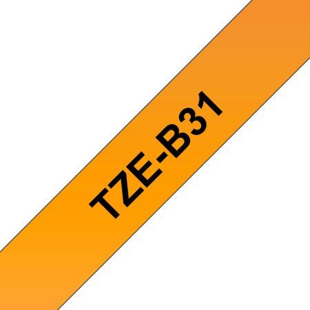 Feliratozógép szalag, 12 mm x 5 m, BROTHER, narancs-fekete (TZE-B31)