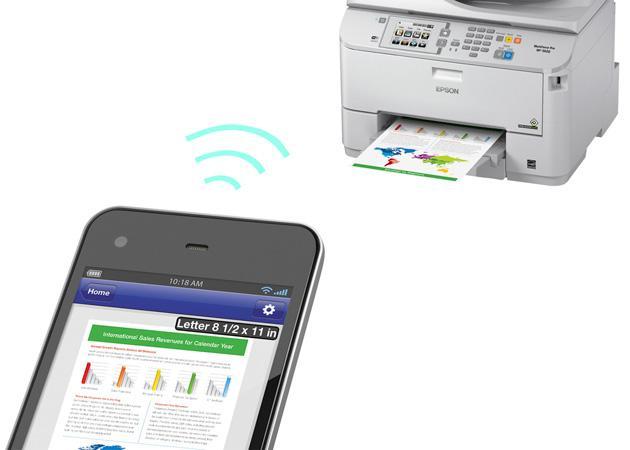 A nyomtató kommunikál a mobillal